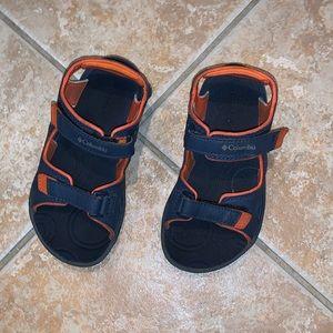 kids columbia sandals shoes size 13 blue/orange
